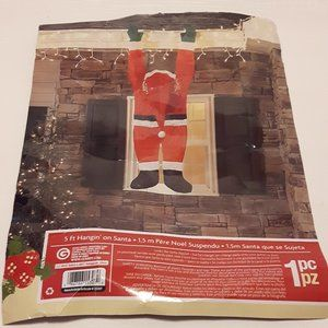 Outdoor Decor Santa Hanging from Gutter